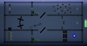 Screenshot of a hard level